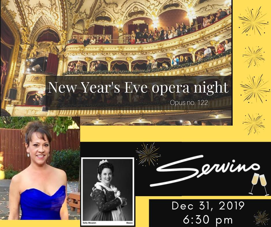 New Year's Eve Opera Night at Servino, December 31, 2019
