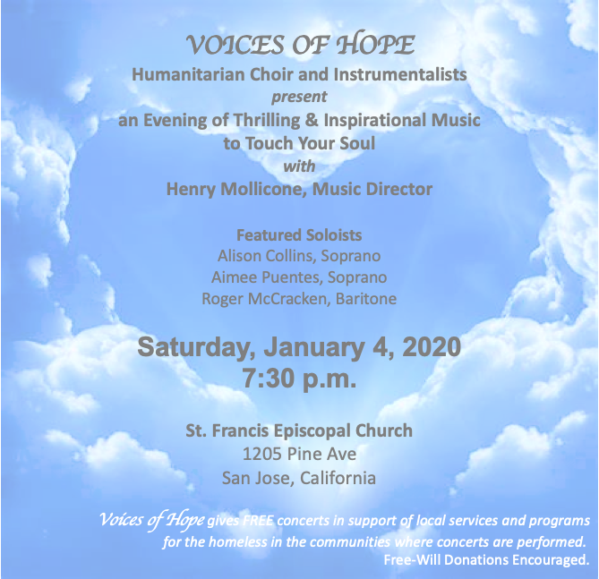 Voices of Hope concert flyer_Jan 4, 2020