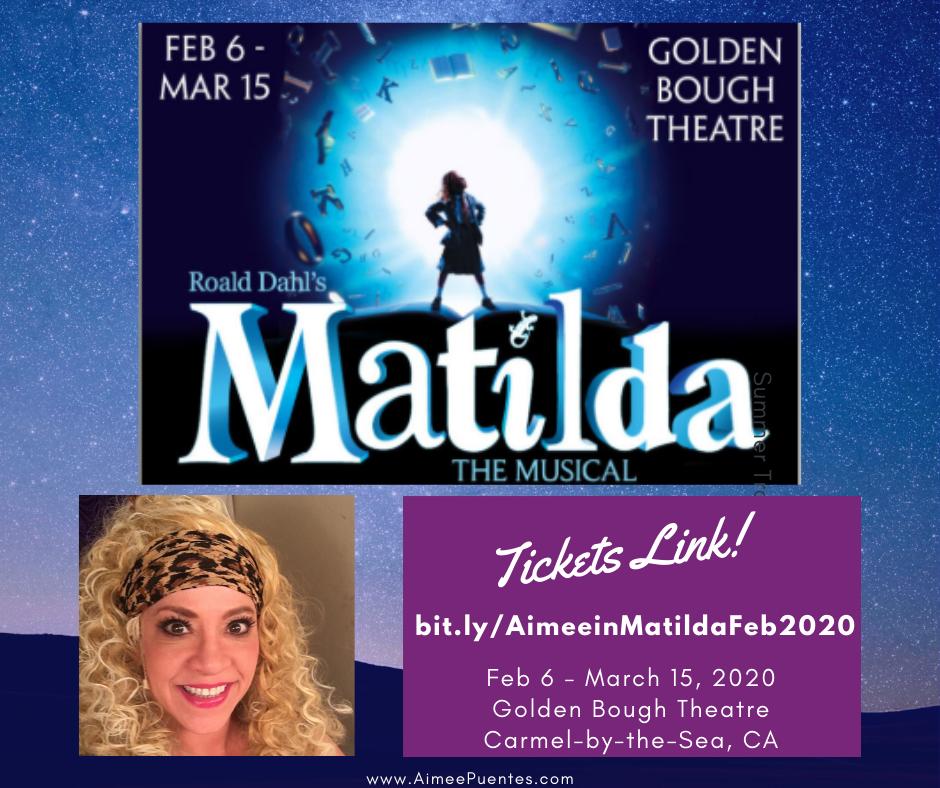 Pacific Repertory Theatre's Matilda- the Musical, Feb 6- March 15, 2020