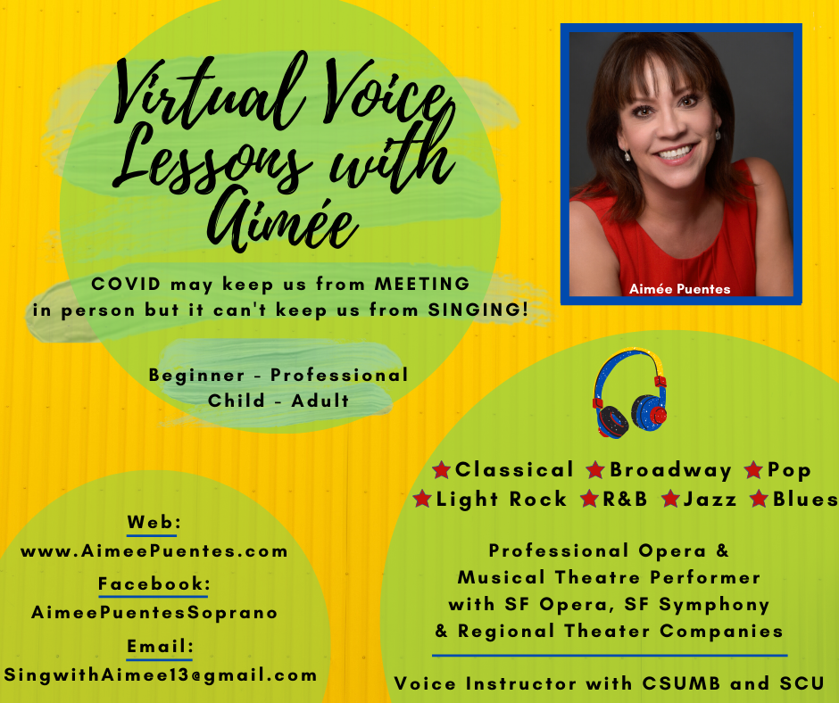 Virtual Voice Lesson with Aimee on Zoom